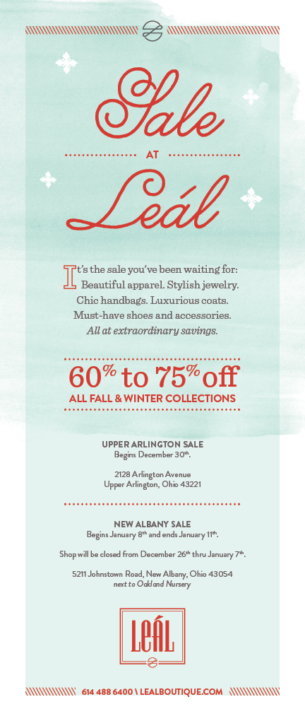 LEL-001 Holiday Sale_email